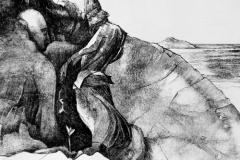 Keim der Hoffnung,  Tuschefeder, 45 x 35 cm, 2020