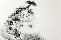 Carmen Meiswinel, über Winde, Tuschefeder, 2013