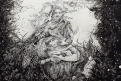 Carmen Meiswinel, Zarathustra, Tuschefeder, 2013