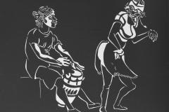 Afrikanischer-Trommeltanz-Linolschnitt-35-x-30-cm-2014