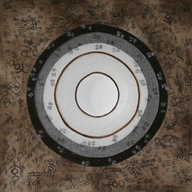 Dao-4-Ebenen-SchlammGaze-Oel-auf-Leinwand-60-x-60-cm-2010