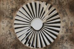 DaoYin-Yang-SchlammGaze-Oel-auf-Leinwand-60-x-60-cm-2010